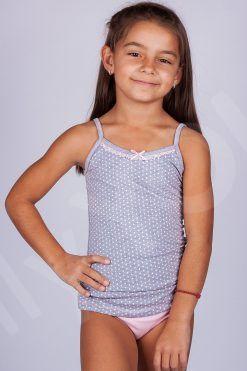 Цветен детски памучен комплект сиво